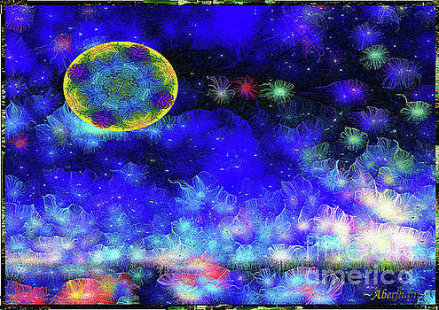 Kaleidoscope Moon for Children Gone Too Soon Number 1 - Ascension  by Aberjhani