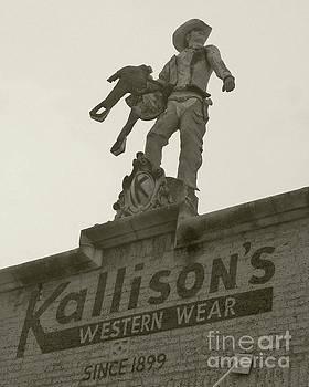 Kallison Cowboy Still Stands in San Antonio by Barbie Corbett-Newmin