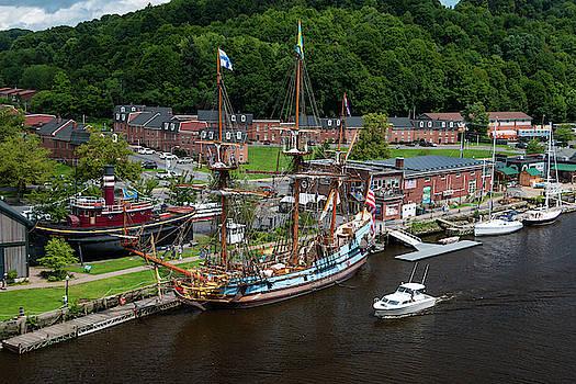 Kalmar Nyckel at Port by Jeff Severson