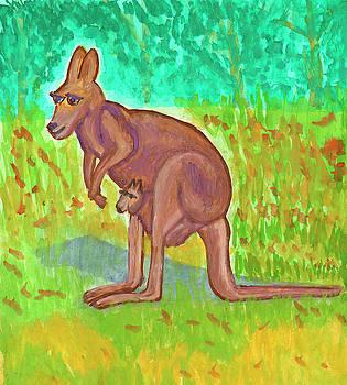 Kangaroo by Dobrotsvet Art