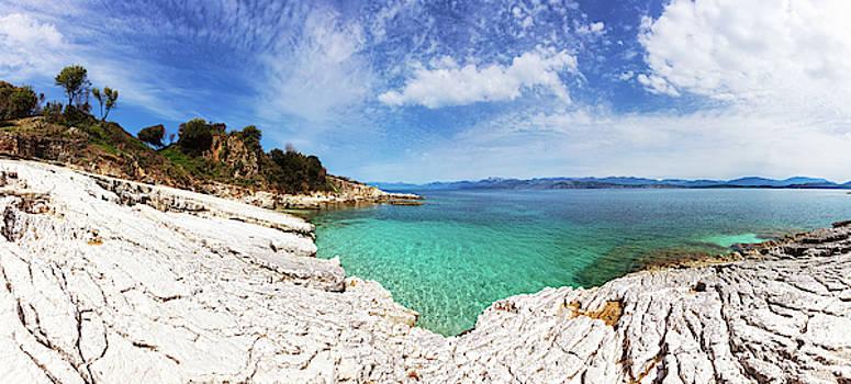 Kanoni beach in Corfu island by Evgeni Dinev