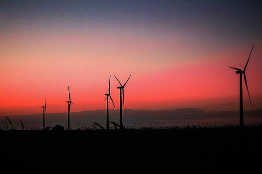 Kansas Windmill Sunset by Steven Bateson