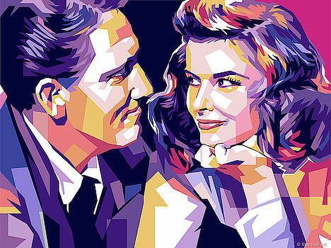 Katharine Hepburn and Spencer Tracy by Stars-on- Art