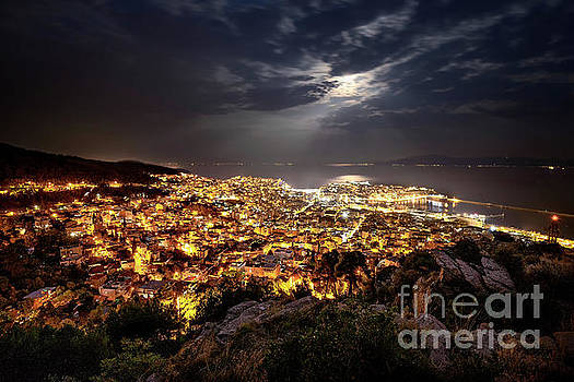 Kavala Under The Full Moon by Elias Pentikis