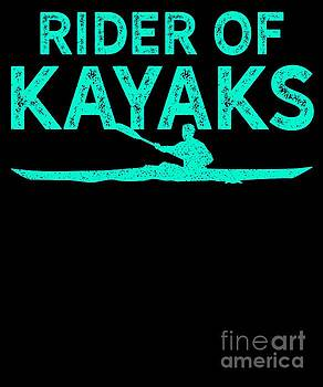 Kayak Rider Of Kayaks Silhouette Teal Gift Light by J P