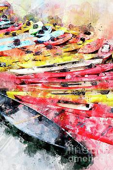 Kayak watercolor by Bryan Keil