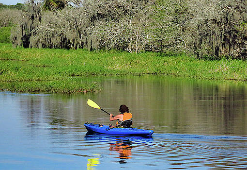 Kayaker in the Wild by Rosalie Scanlon