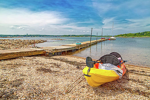 Kayaking to Goat Island Maine by Betsy Knapp