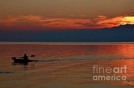 Kayak's Sunset Paradise by Tony Lee