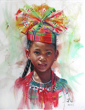 Kejeem with Fanhat by Jonathan Guy-Gladding JAG