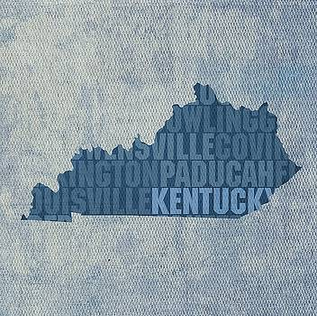 Kentucky State Words Wall Art by David Bowman