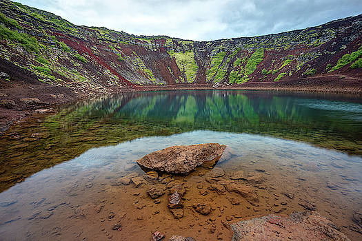 Kerid Crater Lake Iceland by Pierre Leclerc Photography
