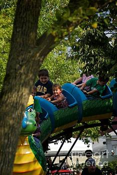 Kids Summer Fun at the Carnival by Frank J Casella