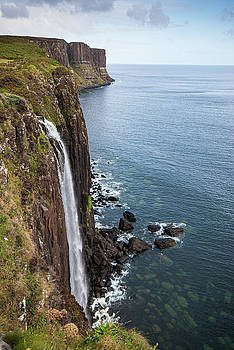 Kilt rock with the Mealt falls at the Isle of Skye in the Highla by Michalakis Ppalis