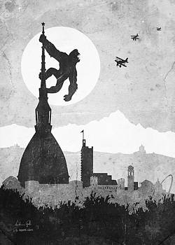 Andrea Gatti - King Kong Turin greyscale