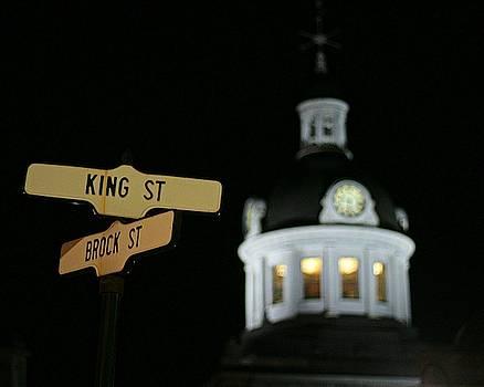 Kingston City Hall At Night by Iris Russak