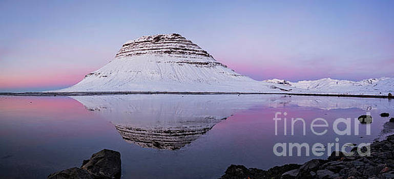 Kirkjufell mountain on sunset, Iceland by Luigi Morbidelli