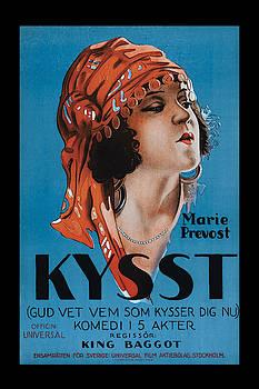 Kissed 1922 Vintage Movie Poster by Vincent