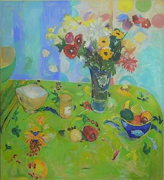 Kitchen Flowers by Aletha Kuschan