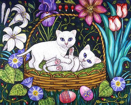 Linda Mears - Kittens in a Basket