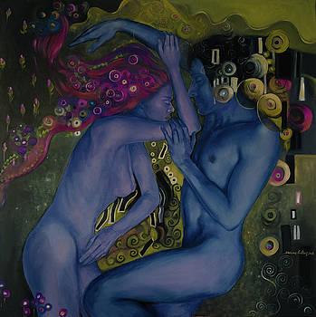 Klimtian Romance II by Dorina Costras