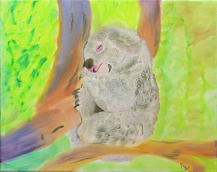 Peace and Love Koala by Meryl Goudey