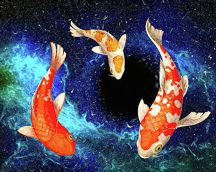 Sandra Selle Rodriguez - Koi in Space