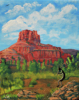 Chance Kafka - Kokopelli and Bell Rock, Sedona, Arizona