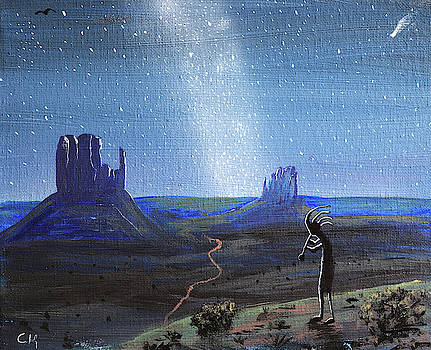 Chance Kafka - Kokopelli and Milky Way Stars at Monument Valley