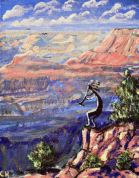 Chance Kafka - Kokopelli at the Grand Canyon