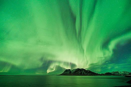 Kolgrafafjordur aurora by Emanuele Balboni