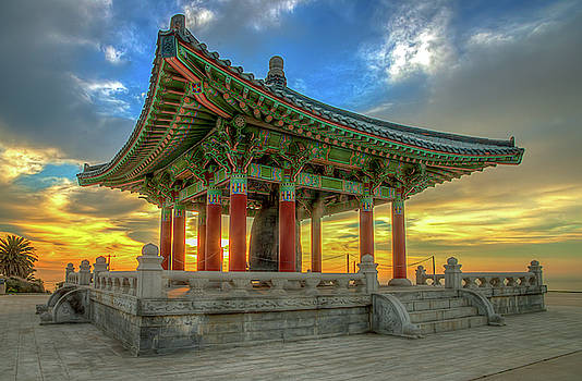 Korean Bell of Friendship - Sunrise by R Scott Duncan