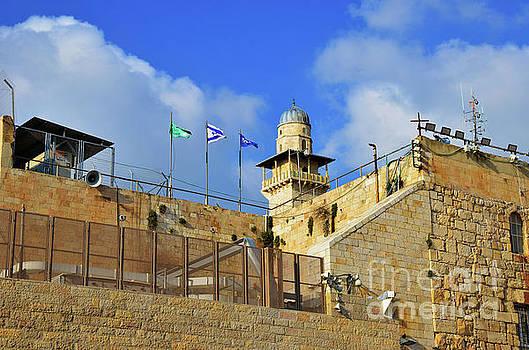 Kotel Flag of Israel by Del Art