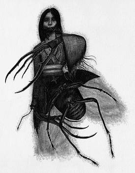 Kuchisake-onna The Slit Mouthed Woman Ghost - Artwork by Ryan Nieves