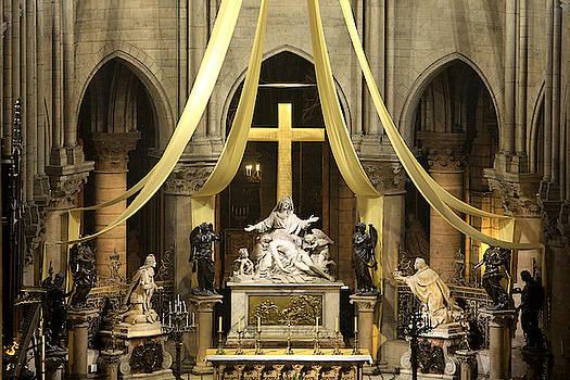 La Pieta Cathedrale Notre Dame De Paris France by Catherine Leblanc