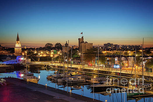 La Rochelle at night by Delphimages Photo Creations