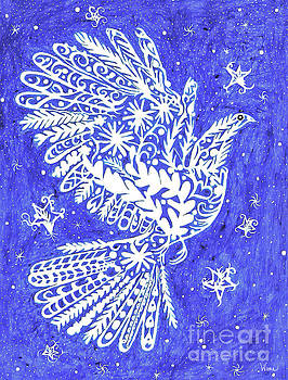 Lacey Bird and Stars by Lise Winne