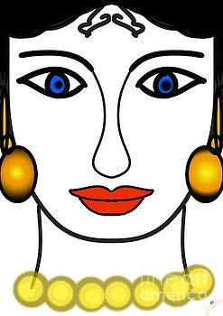 Lady of classic time by Artist Nandika Dutt