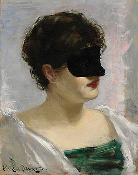 Lady with a Black Mask by Carroll Beckwith