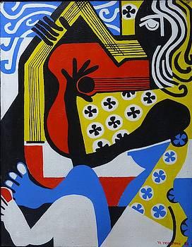Lady with Guitar by Nicholas Martori