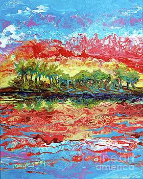 Lagoon Sunset by Marilyn Young