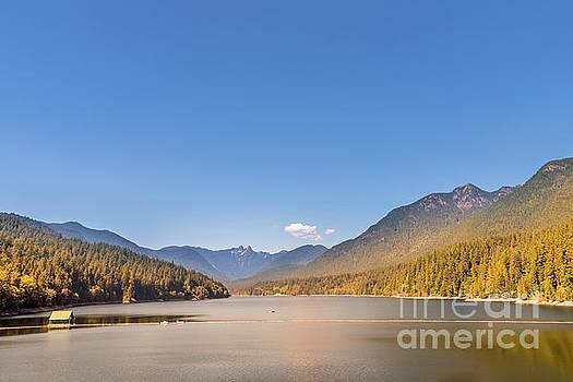 Lake among the mountains by Viktor Birkus