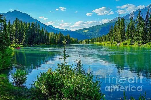 Lake at Banff Indian Trading Post by Susan Rydberg
