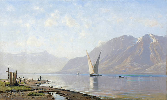 Auguste-Louis Veillon - Lake Geneva