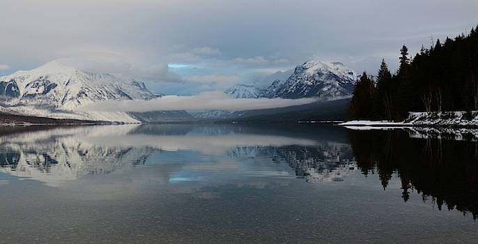 Lake McDonald in Winter by Whispering Peaks Photography