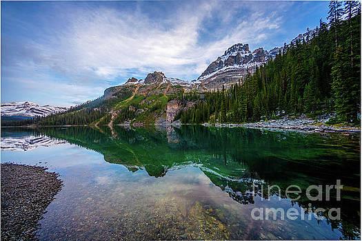 Lake OHara Morning Peaks by Mike Reid