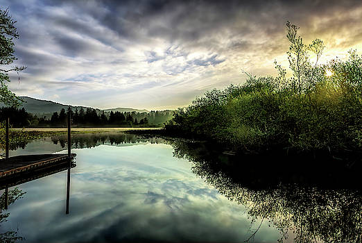 Lake Pier by Maria Coulson