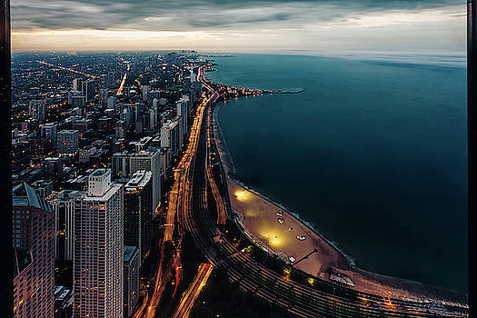 Lake Shore Drive at Twilight by Andrew Soundarajan