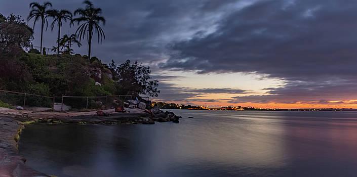 Lake Side Dawn Panorama by Merrillie Redden