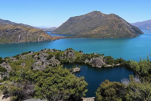 Lake Wanaka New Zealand from Mou Wahoo Island by Sarah Lilja